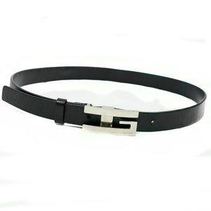 Gucci Vintage Leather Belt in Black